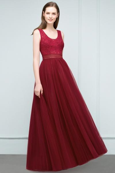 Elegant Straps Tulle A-line Evening Dress_7