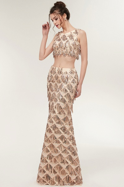 Latest Jewel Chiffon Mermaid Evening Dress_7