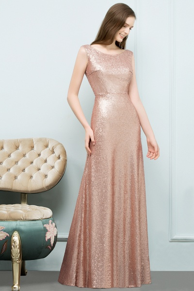A-line Sequined Scoop Sleeveless Floor-Length Bridesmaid Dress_3