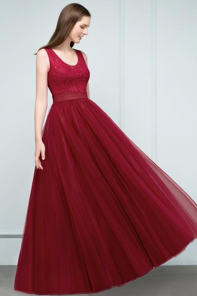 Elegant Straps Tulle A-line Evening Dress_4