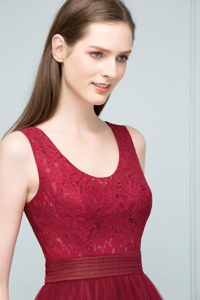 Elegant Straps Tulle A-line Evening Dress_9
