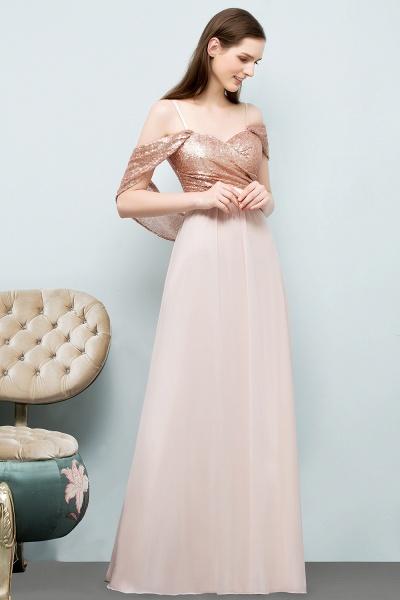 Chic Off-the-shoulder Chiffon A-line Evening Dress_8