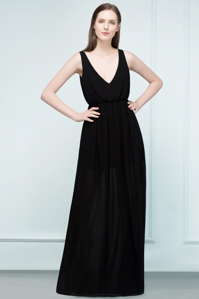 Fascinating V-neck Chiffon A-line Evening Dress_1