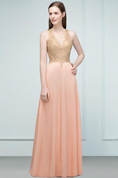 Excellent V-neck Chiffon A-line Evening Dress_6