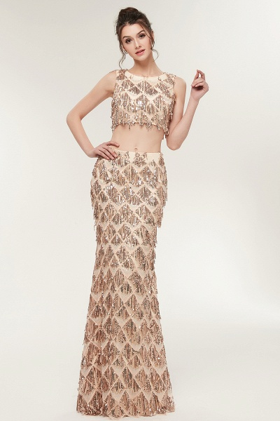 Latest Jewel Chiffon Mermaid Evening Dress_4
