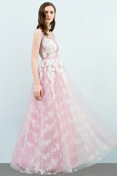 Affordable Square Tulle A-line Evening Dress_7