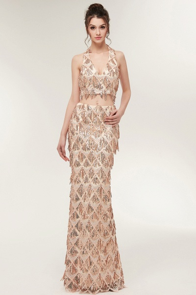 Chic Halter Chiffon Mermaid Evening Dress_5