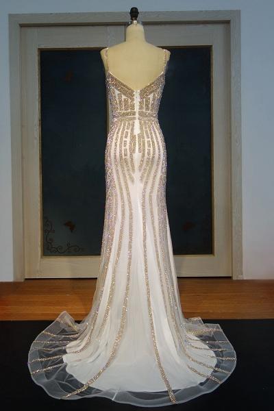 JAYLEEN | Mermaid Sweetheart Long Spaghetti Champagne Sequined Prom Dresses_3