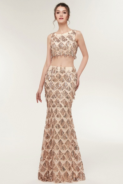Latest Jewel Chiffon Mermaid Evening Dress_6