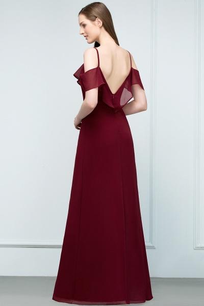 Elegant A-Line Chiffon Spaghetti Straps Sleeveless Floor-Length Bridesmaid Dresses_2