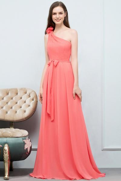 Amazing One Shoulder Chiffon A-line Evening Dress_9