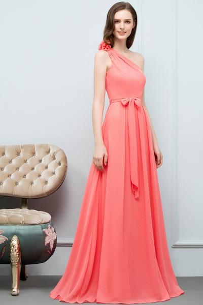 Amazing One Shoulder Chiffon A-line Evening Dress_5