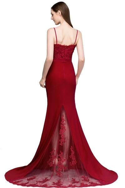 Modest Spaghetti Straps Stretch Satin Mermaid Evening Dress_3