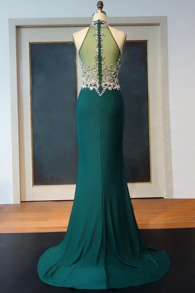 JOCELYNN   Mermaid Floor Length Halter Crystal Beading Prom Dresses_3