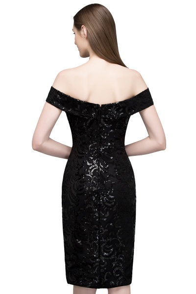 Attractive Off-the-shoulder Sequined Column Evening Dress_3