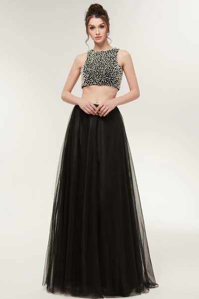 Wonderful Jewel Tulle Two Pieces Evening Dress_4
