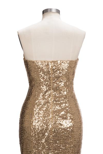 VESTA | Mermaid Sweetheart Strapless Long Split Sequins Prom Dresses_6