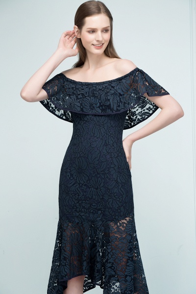 Affordable Off-the-shoulder Lace Mermaid Evening Dress_6