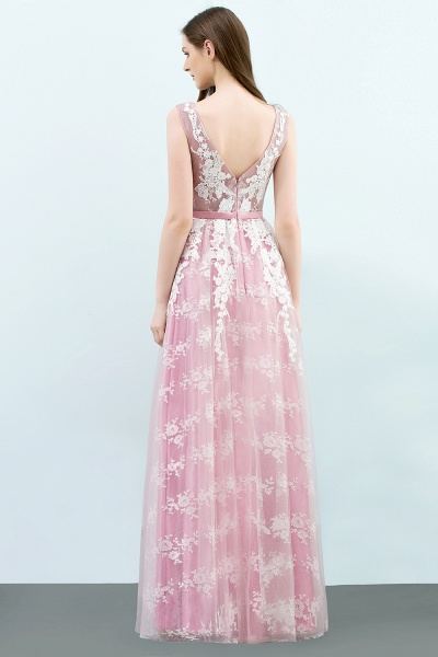 Affordable Square Tulle A-line Evening Dress_3