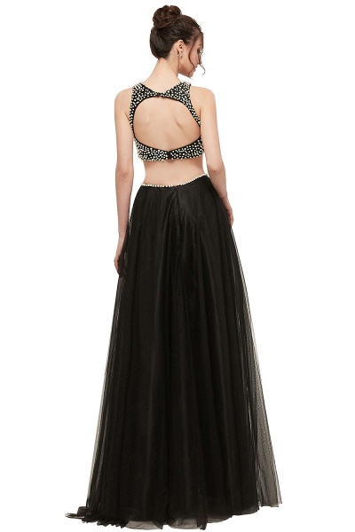 Wonderful Jewel Tulle Two Pieces Evening Dress_3