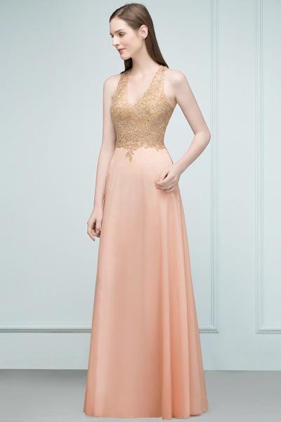 Excellent V-neck Chiffon A-line Evening Dress_5
