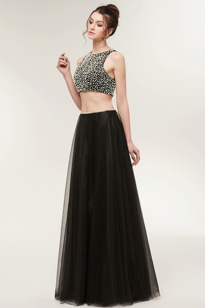 Wonderful Jewel Tulle Two Pieces Evening Dress_7