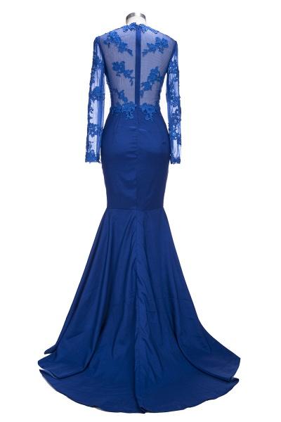 VICKIE | Mermaid Floor Length Illusion Top Long Sleeves Lace Prom Dresses_3