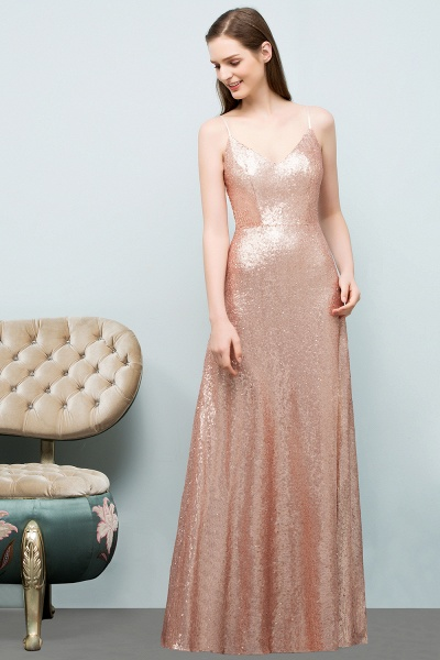 Excellent Sweetheart Sequined A-line Evening Dress_8