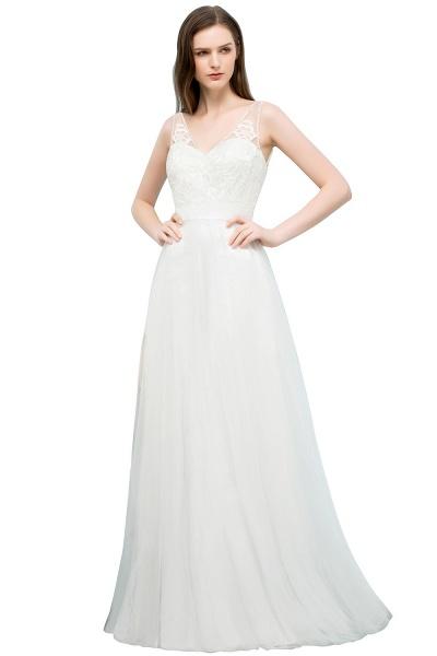 Fabulous V-neck Tulle A-line Evening Dress_1
