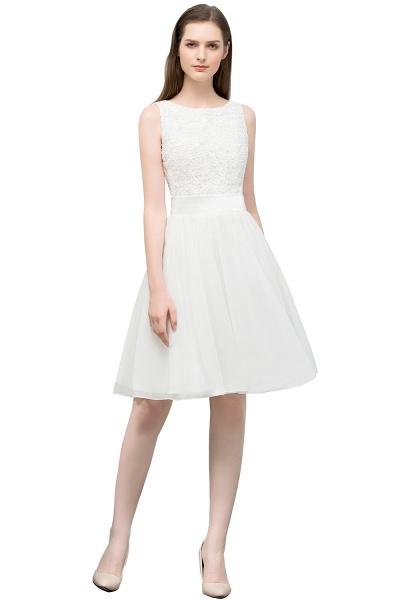 Modest Jewel Chiffon A-line Homecoming Dress_2