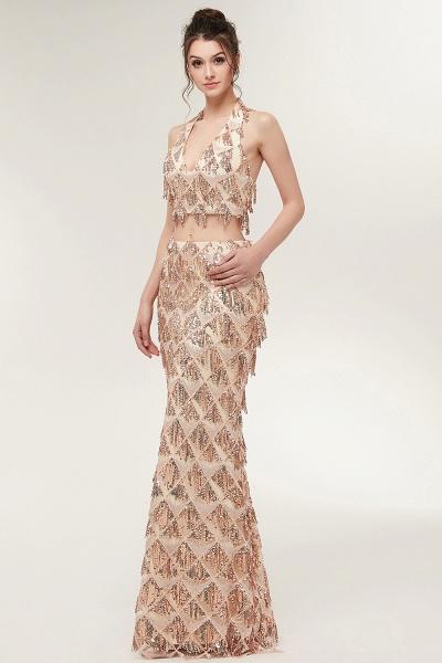 Chic Halter Chiffon Mermaid Evening Dress_6