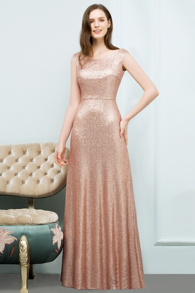 Elegant Jewel Sequined A-line Evening Dress_2