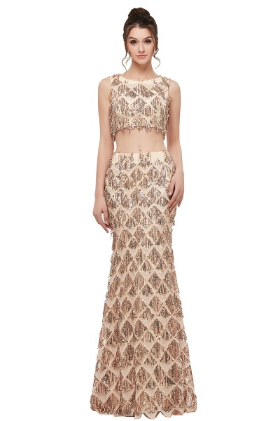 Latest Jewel Chiffon Mermaid Evening Dress_1