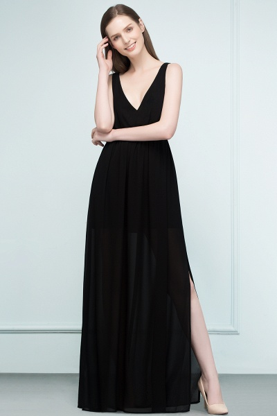 Fascinating V-neck Chiffon A-line Evening Dress_3