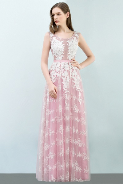 Affordable Square Tulle A-line Evening Dress_5