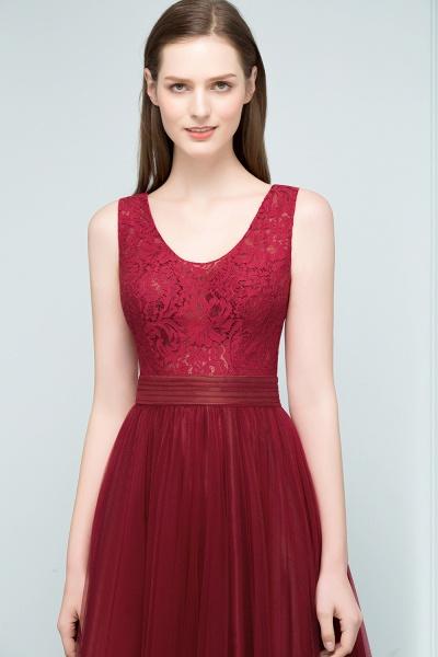 Elegant Straps Tulle A-line Evening Dress_6