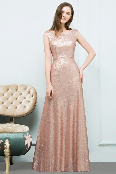 Elegant Jewel Sequined A-line Evening Dress_5