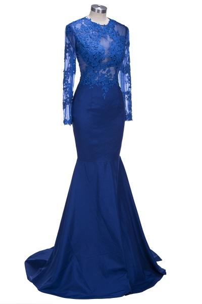 VICKIE | Mermaid Floor Length Illusion Top Long Sleeves Lace Prom Dresses_7