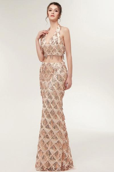 Chic Halter Chiffon Mermaid Evening Dress_7