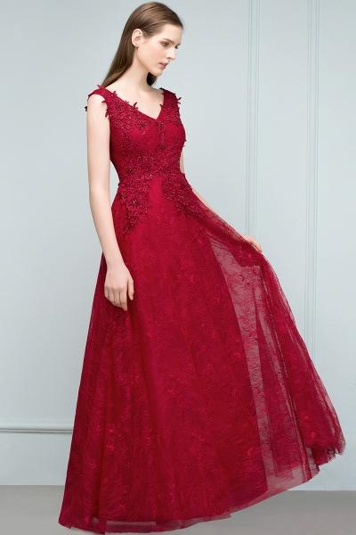 Affordable V-neck Tulle A-line Evening Dress_7