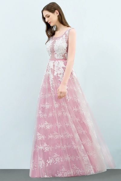 Affordable Square Tulle A-line Evening Dress_4