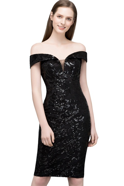 Attractive Off-the-shoulder Sequined Column Evening Dress_2