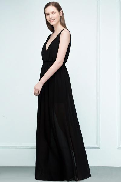 Fascinating V-neck Chiffon A-line Evening Dress_5