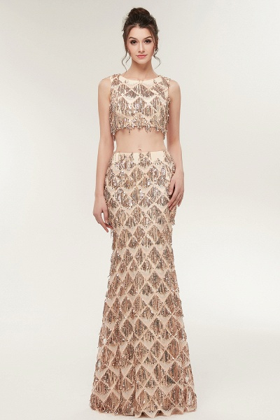 Latest Jewel Chiffon Mermaid Evening Dress_5