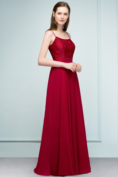 Sleek Bateau Chiffon A-line Evening Dress_2