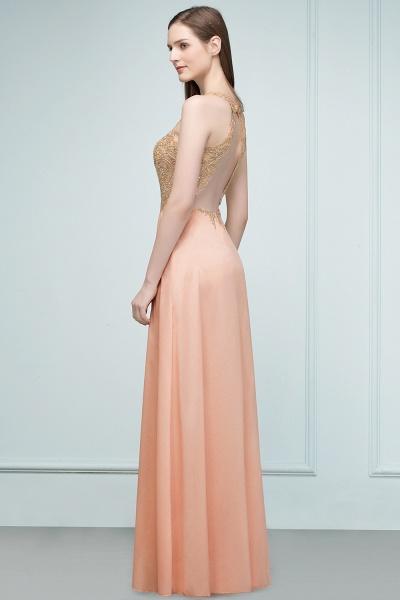 Excellent V-neck Chiffon A-line Evening Dress_7