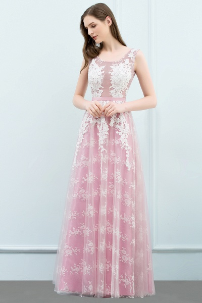 Affordable Square Tulle A-line Evening Dress_6