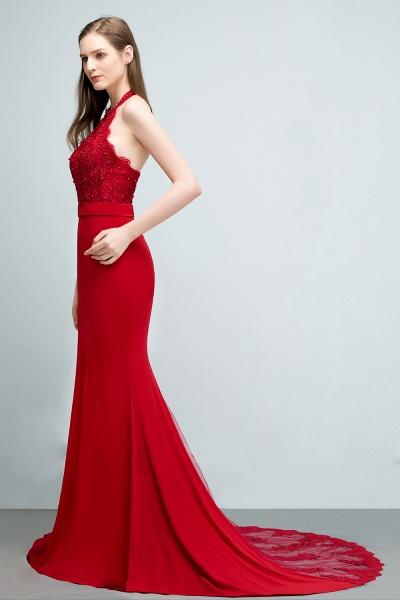 Sleek Halter Stretch Satin Mermaid Evening Dress_8