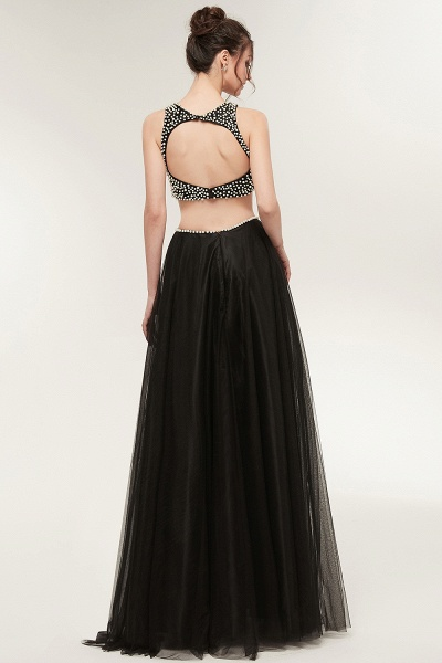 Wonderful Jewel Tulle Two Pieces Evening Dress_8
