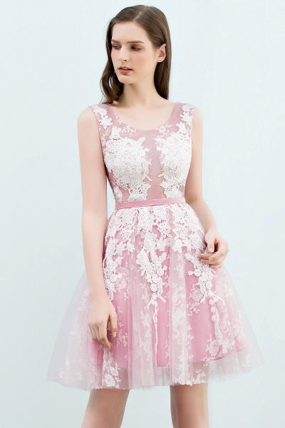 Elegant Appliques Tulle A-line Homecoming Dress_6